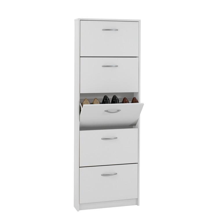 Tesoro 5 White Shoe Cabinet