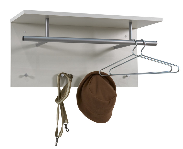 White wall-Mounted Coat Stand