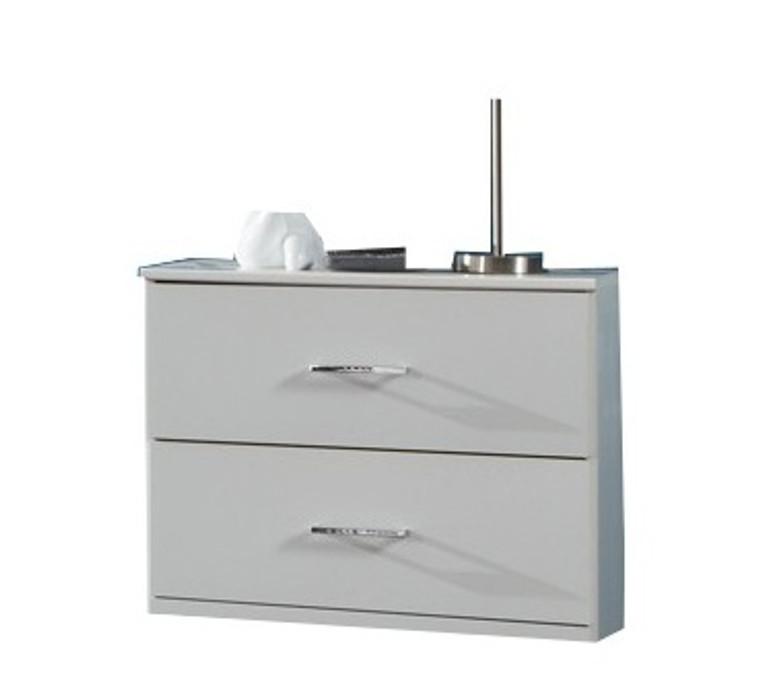 Tesoro white 2 Drawer Bedside White
