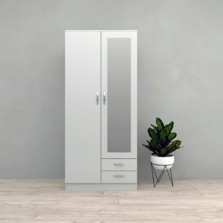 TESORO 3 DOOR 2 DRAWER FROSTY WHITE