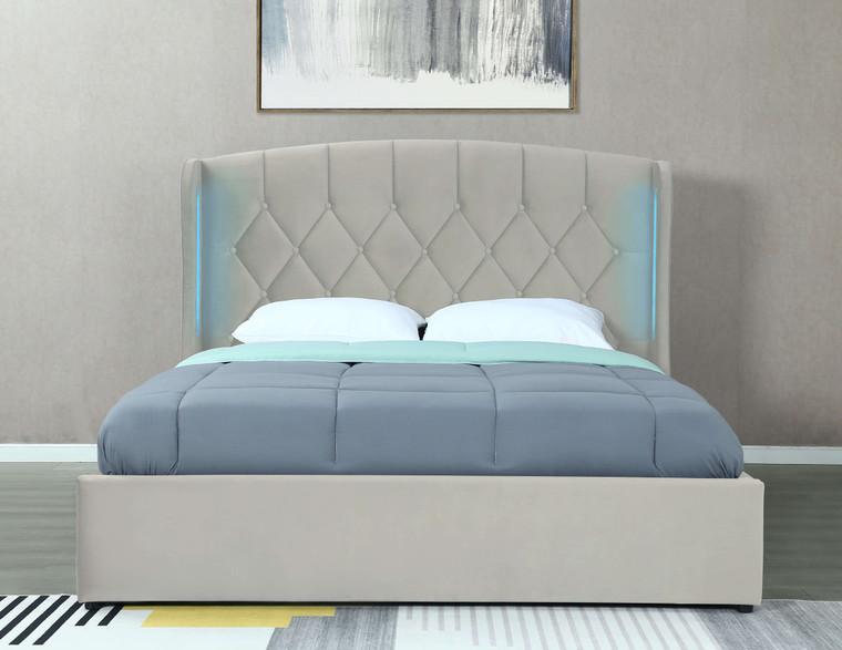 Mayfair Ottoman Bed LED Frame silver