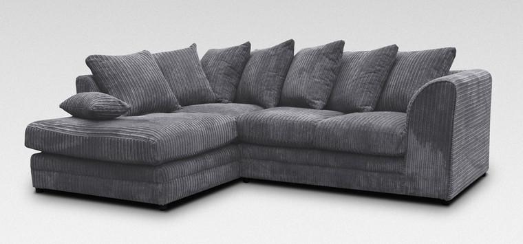 Dallas Fabric Corner Sofa (Left Hand Side)
