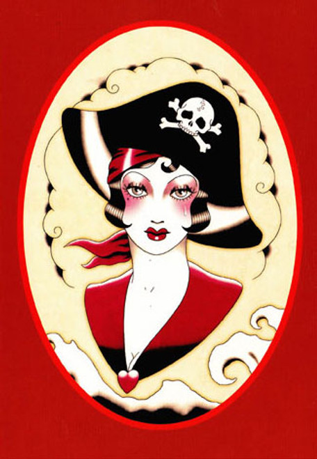 Angelique Houtkamp Greeting Card - Pirate Woman