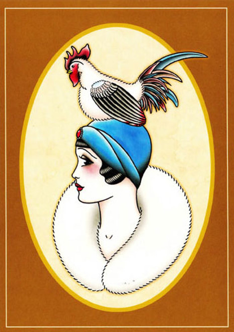 Angelique Houtkamp Greeting Card - Rooster
