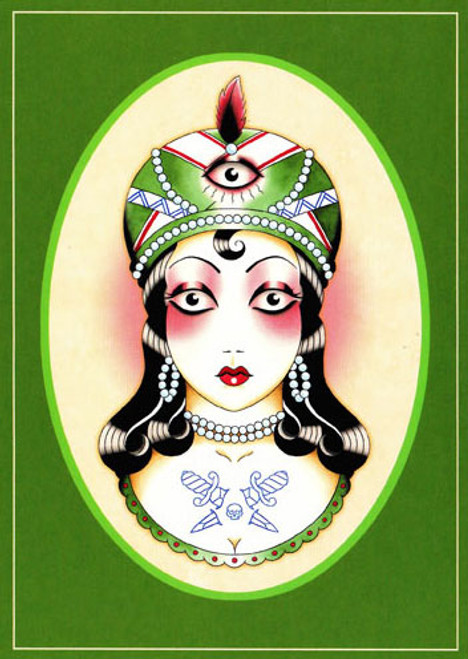 Angelique Houtkamp Greeting Card - Fortune Teller