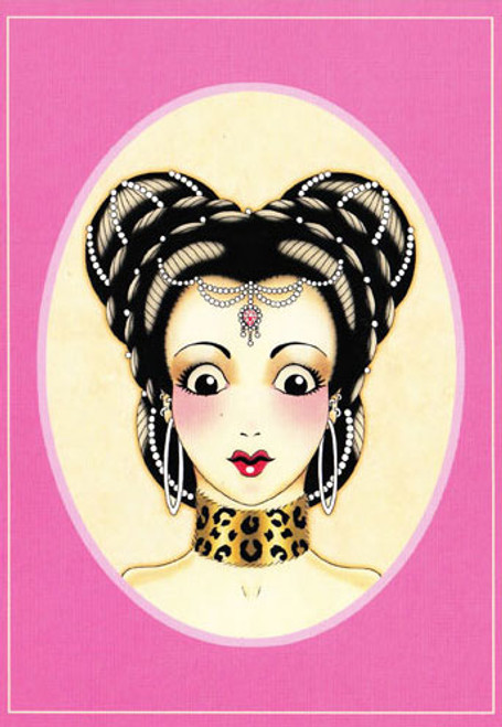 Angelique Houtkamp Greeting Card -  Hair Pearls