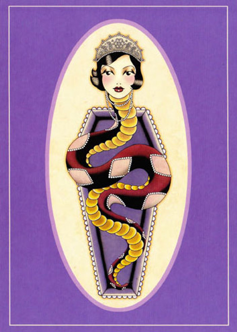 Angelique Houtkamp Greeting Card -  Snake Woman