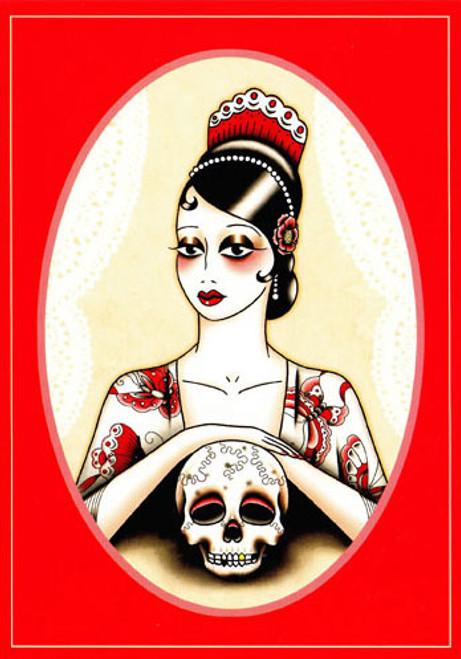 Angelique Houtkamp Greeting Card -  Skull
