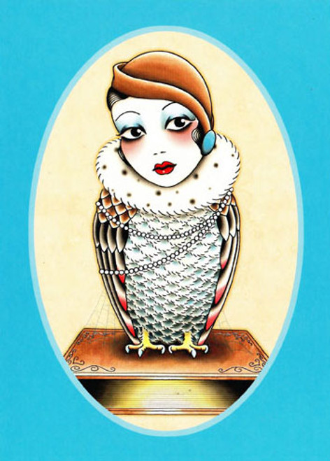 Angelique Houtkamp Greeting Card -  Owl