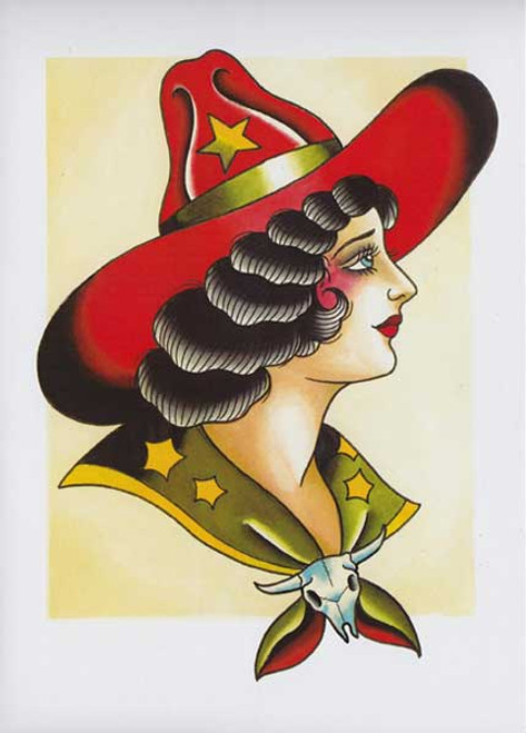 Ben Stone Greeting Card - Cowgirl