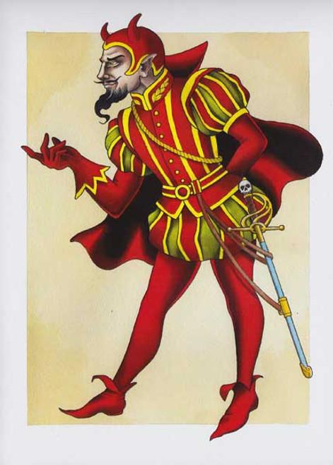 Ben Stone Greeting Card - Devil