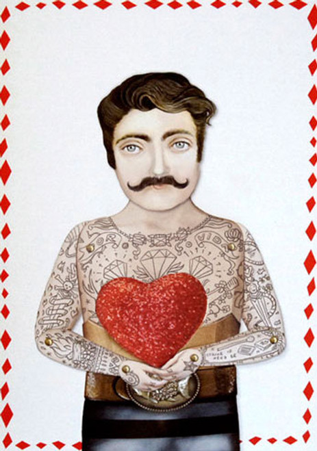 Sir Craig with Heart Greeting Card