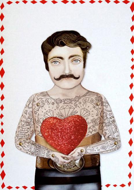 Sir Craig with Heart Greeting Card