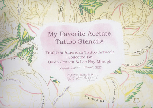 My Favorite Acetate Tattoo Stencils, Vol III