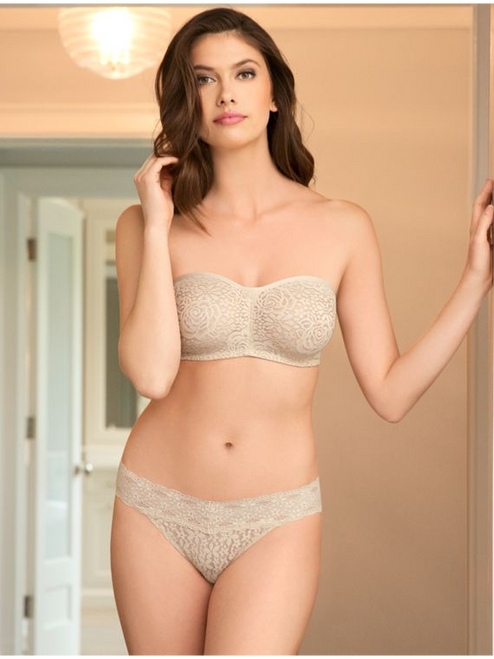 Halo Lace Strapless Underwire Bra