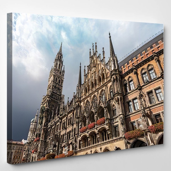 Neue Rathaus Munich New Town Hall - Landmarks and Monuments Canvas Wall Art