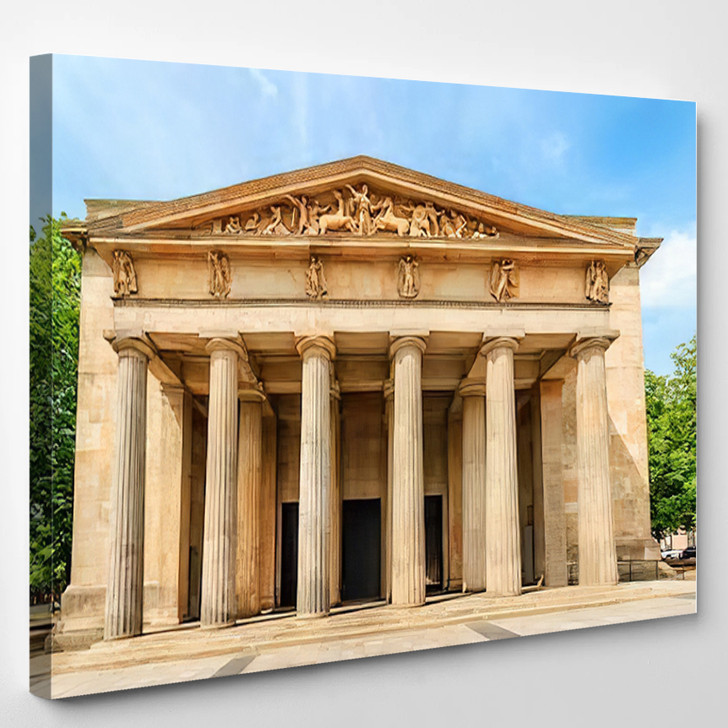 Neue Wache Memorial Berlin Day Monument - Landmarks and Monuments Canvas Wall Art