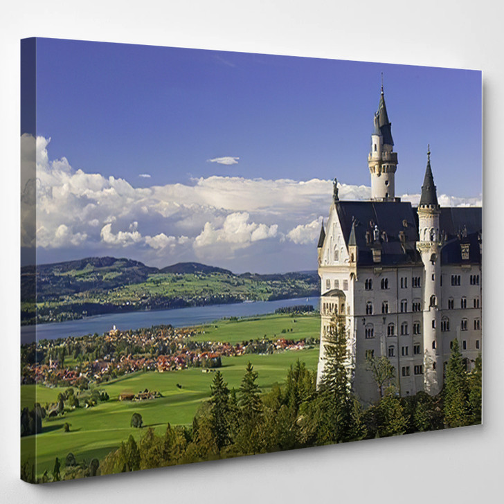 Neuschwanstein Castle Bavaria Germany - Landmarks and Monuments Canvas Wall Art
