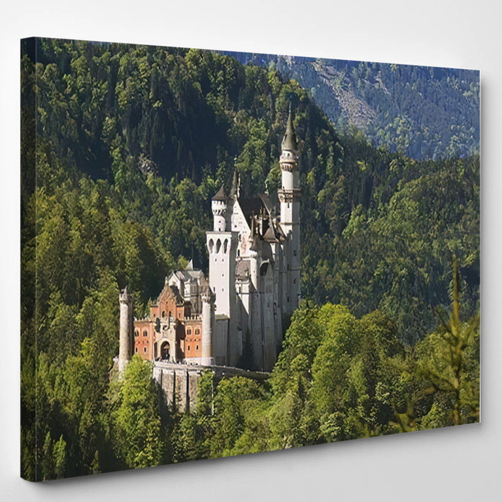 Neuschwanstein Castle Germany 1 - Landmarks and Monuments Canvas Wall Art