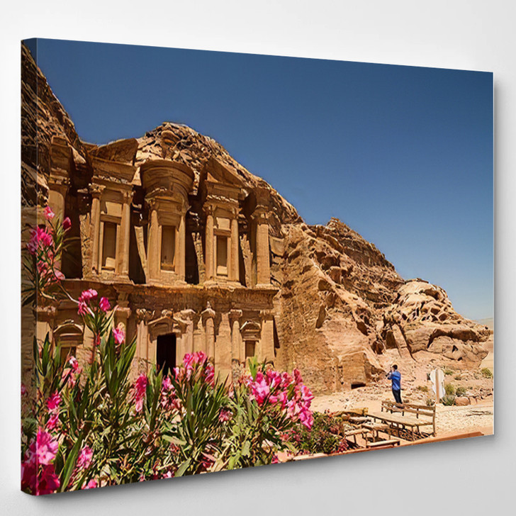 8 June 2014 Tourists Om Front - Landmarks and Monuments Canvas Wall Art