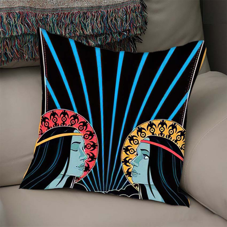 1960S 1970S Music Poster Cover Stylization - Hippies Linen Pillow