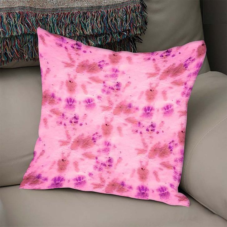 70S Hippies Rose Die Bright Hippy - Hippies Linen Pillow