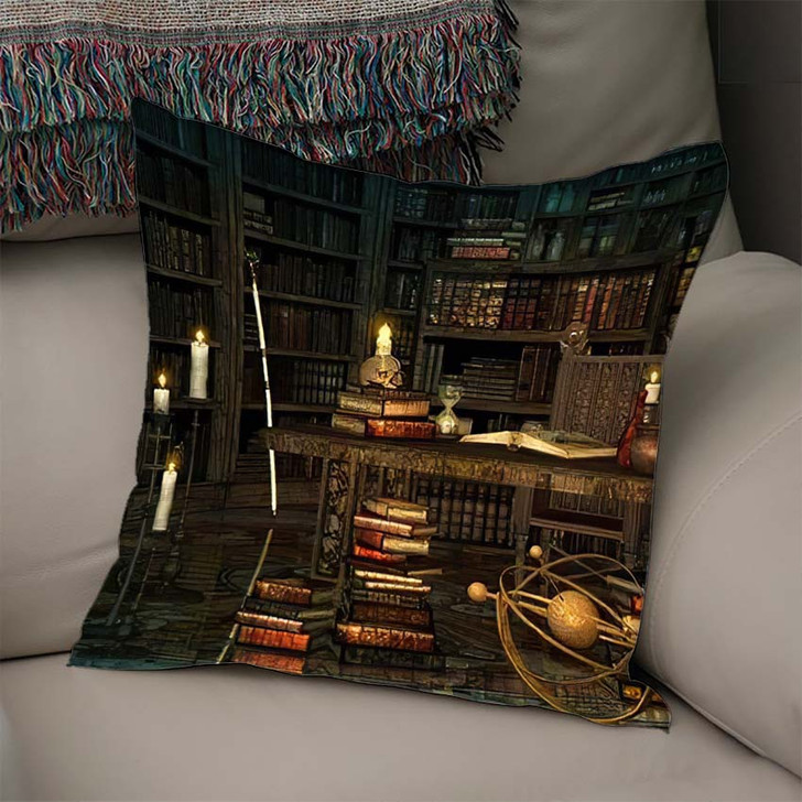 3D Computer Graphics Study Magician Middle - Fantasy Linen Pillow