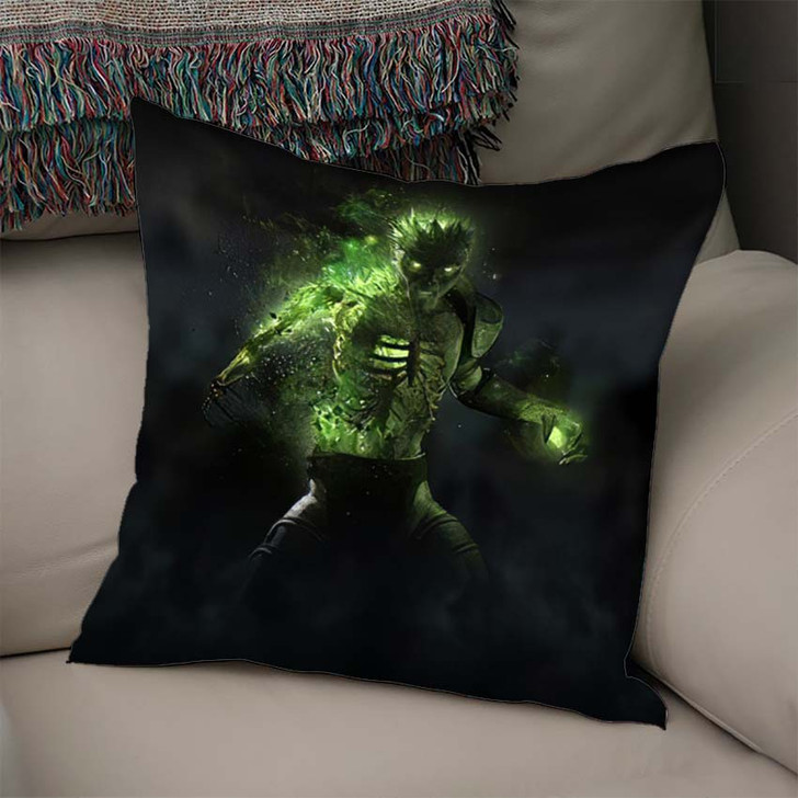 3D Render Zombie Necromancer Character - Fantasy Linen Pillow For Sale