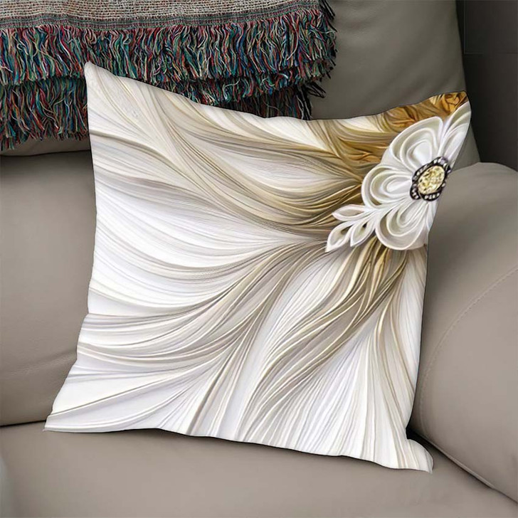 3D Golden Mural Wallpaper Decoration Abstract - Fantastic Linen Pillow For Sale