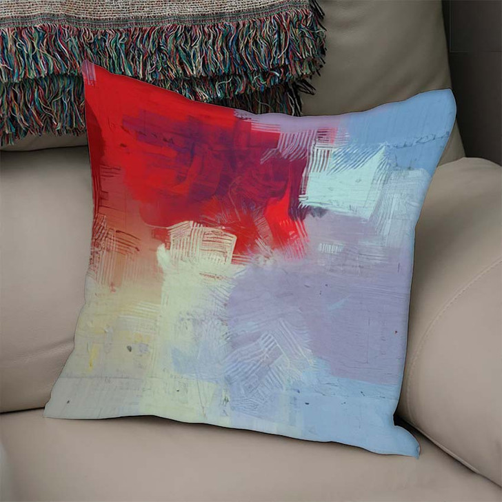 2D Illustration Artistic Background Image Abstract 1 - Abstract Art Linen Pillow For Sale