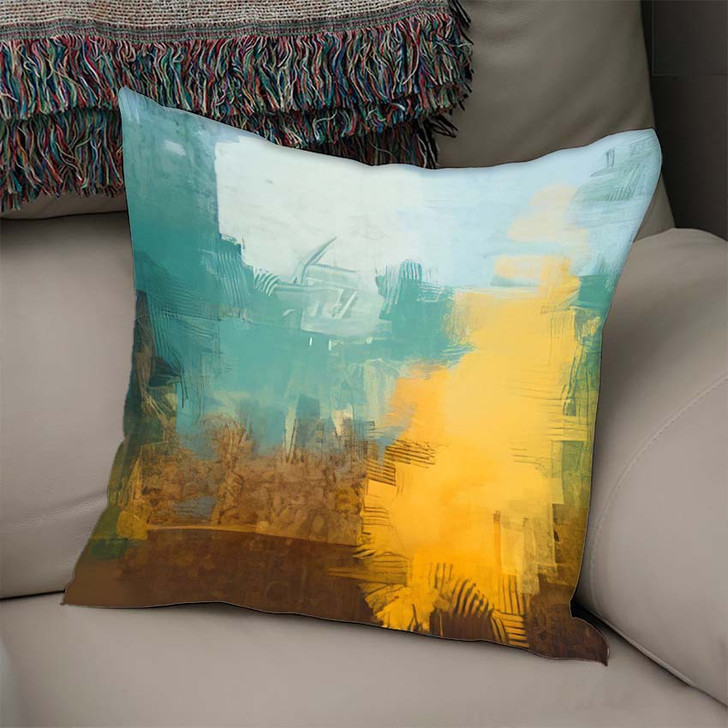 2D Illustration Artistic Background Image Abstract 2 - Abstract Art Linen Pillow