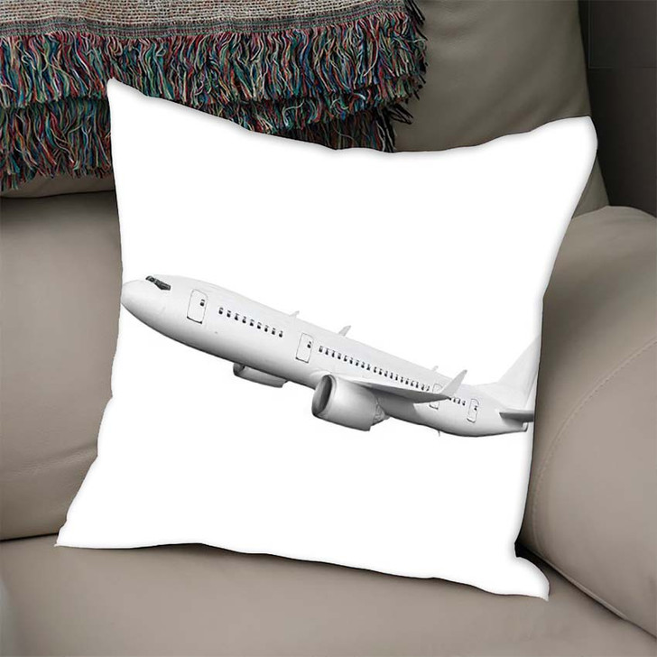 3D White Abstract Airliner Take Off - Airplane Airport Linen Pillow