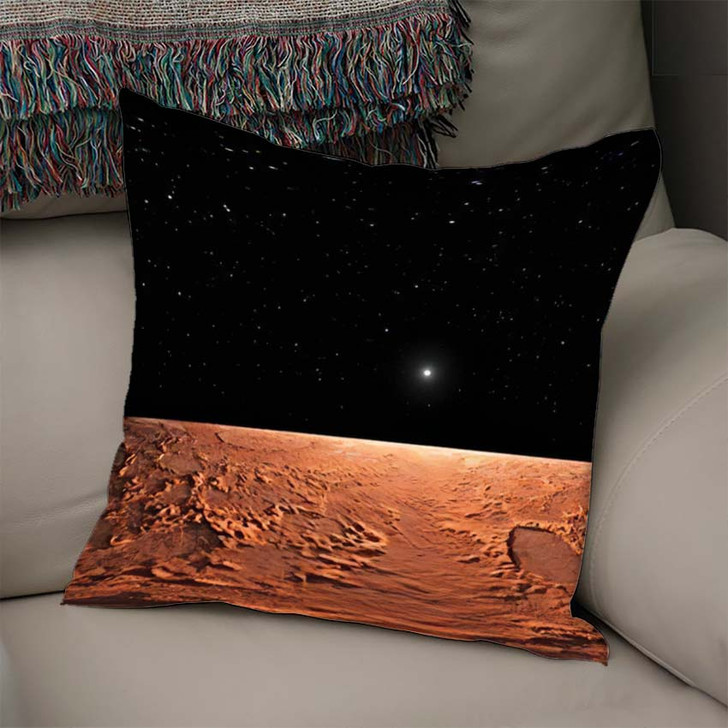 360 Equirectangular Projection Mars Hdri Environment - Sky and Space Linen Pillow For Sale