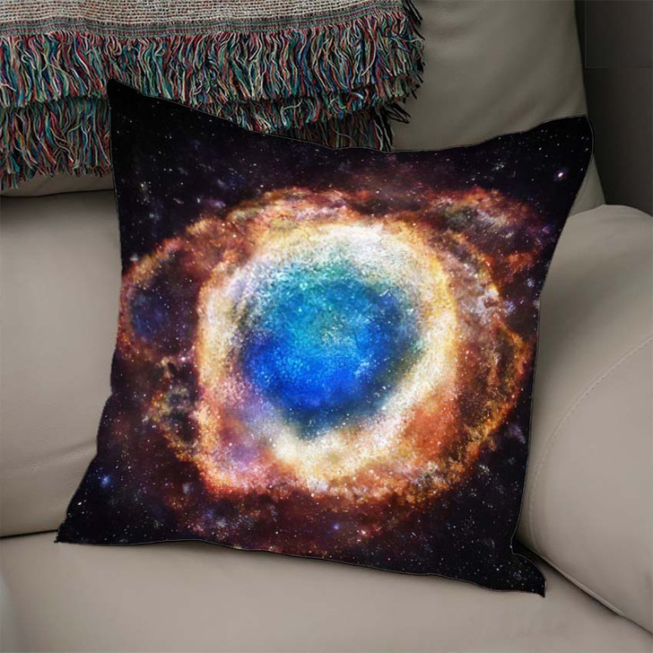 3D Rendering Galaxy Space Beauty Universe - Sky and Space Linen Pillow