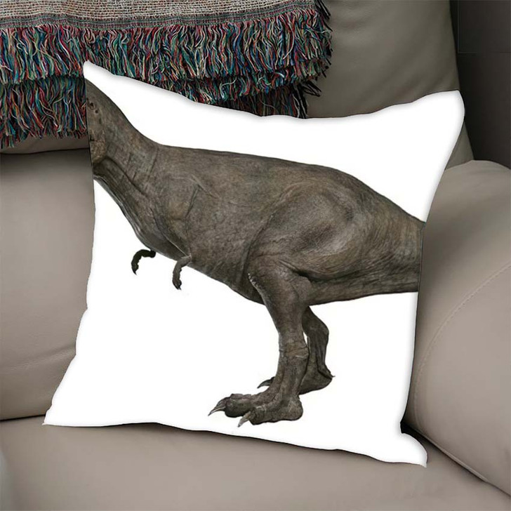 3D Rendered Trex Tyrannosaurus Rex - Godzilla Animals Linen Pillow For Sale