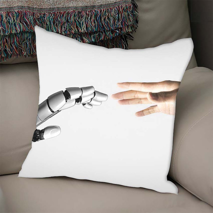 3D Rendering Artificial Intelligence Ai Research 1 - Creation of Adam Linen Pillow For Sale