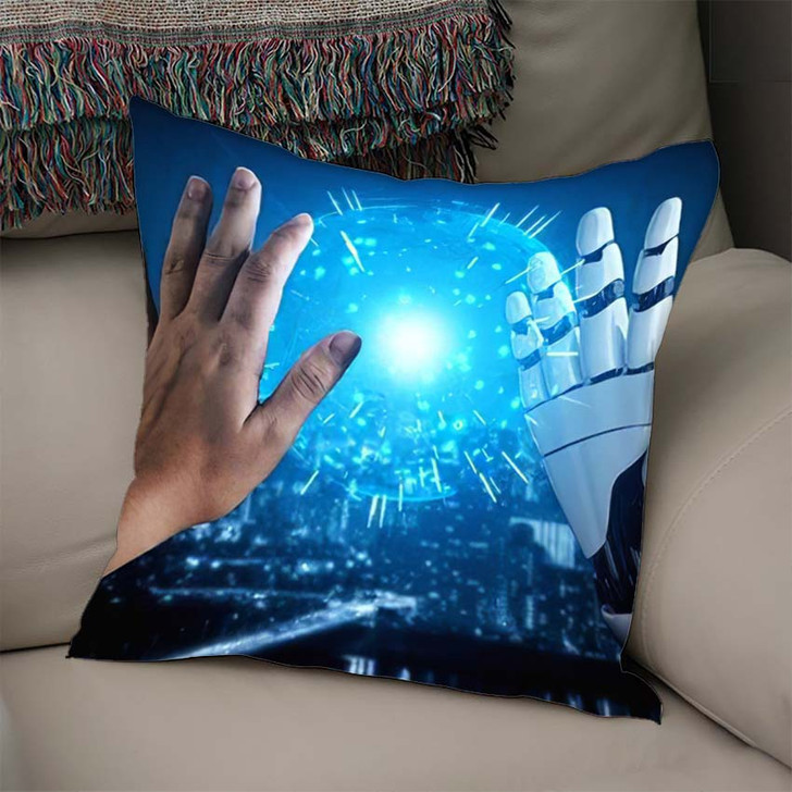 3D Rendering Artificial Intelligence Ai Research 9 - Creation of Adam Linen Pillow