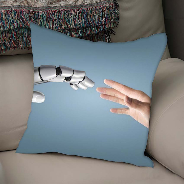 3D Rendering Artificial Intelligence Ai Research 10 - Creation of Adam Linen Pillow For Sale