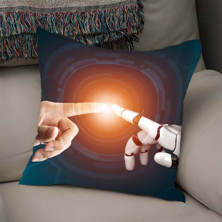3D Rendering Futuristic Robot Technology Development 18 - Creation of Adam Linen Pillow