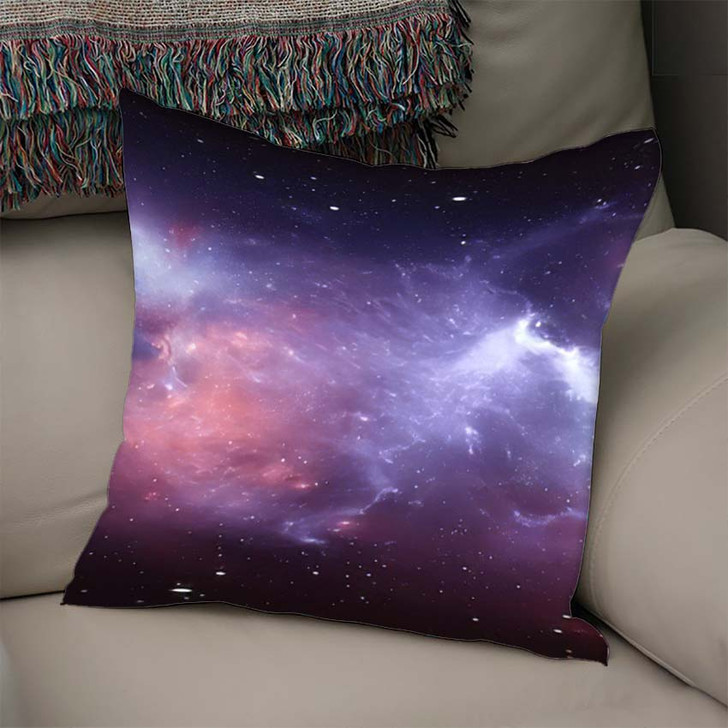 360 Degree Space Nebula Panorama Equirectangular 3 - Galaxy Sky and Space Linen Pillow For Sale