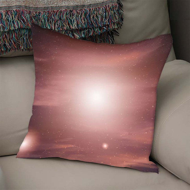 3D Illustration Planets Galaxy Science Fiction - Galaxy Sky and Space Linen Pillow For Sale