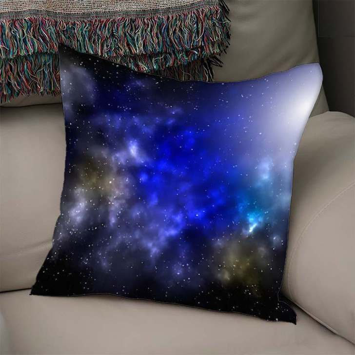 3D Illustration Planets Galaxy Science Fiction 1 - Galaxy Sky and Space Linen Pillow For Sale