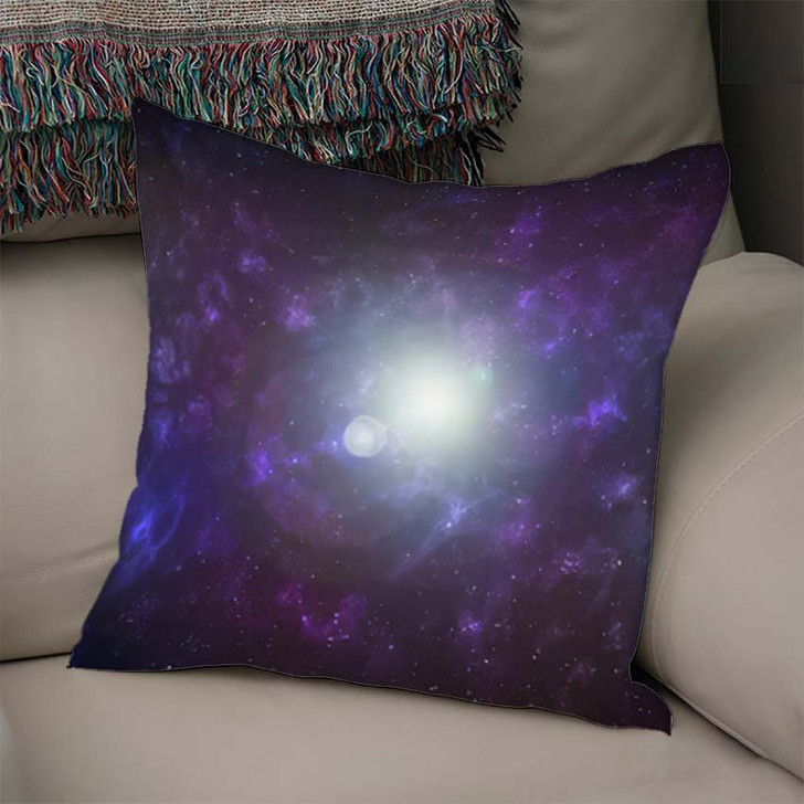 3D Illustration Planets Galaxy Science Fiction 5 - Galaxy Sky and Space Linen Pillow For Sale