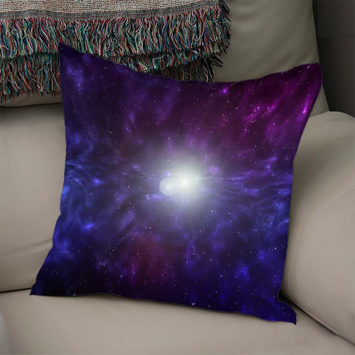 3D Illustration Planets Galaxy Science Fiction 10 - Galaxy Sky and Space Linen Pillow For Sale