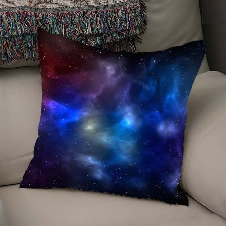 3D Illustration Planets Galaxy Science Fiction 13 - Galaxy Sky and Space Linen Pillow For Sale