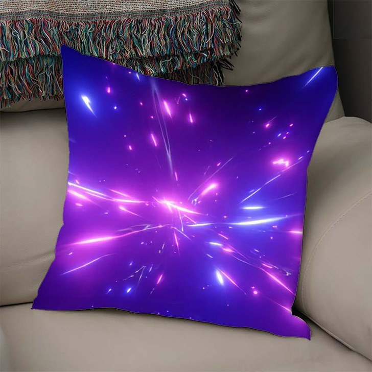 3D Rendering Fantastic Background Bright Glowing - Galaxy Sky and Space Linen Pillow