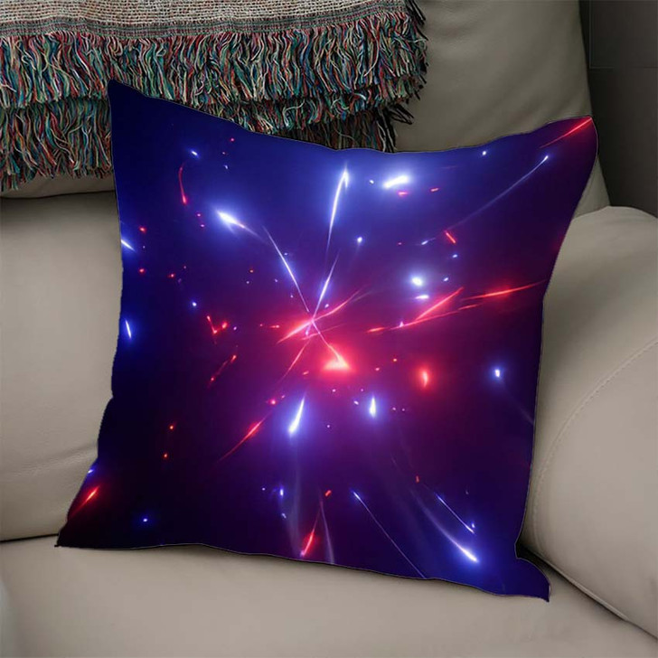 3D Rendering Fantastic Background Bright Glowing 1 - Galaxy Sky and Space Linen Pillow