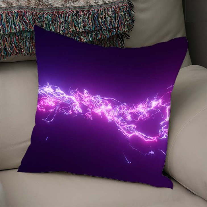 3D Rendering Fantastic Background Bright Glowing 2 - Galaxy Sky and Space Linen Pillow