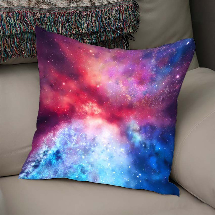 3D Rendering Galaxy Space Beauty Universe 1 - Galaxy Sky and Space Linen Pillow