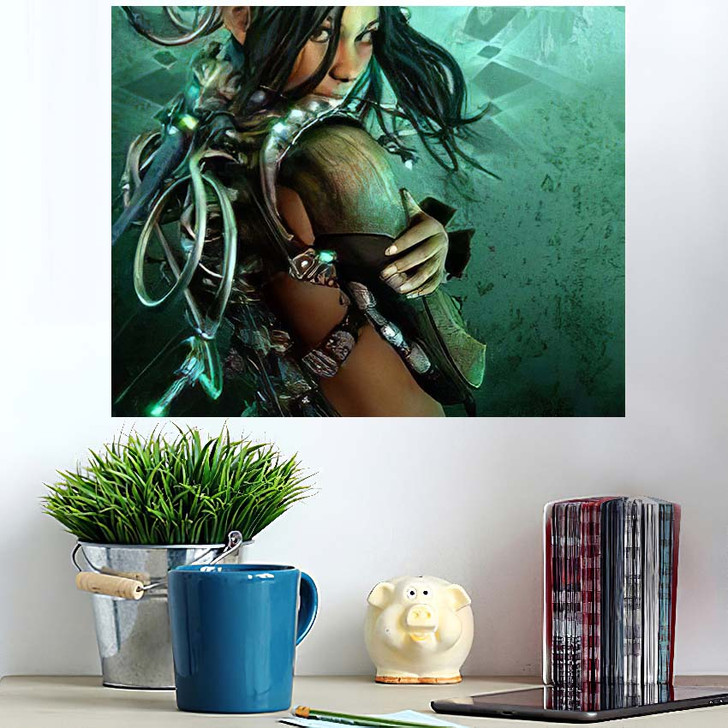 3D Computer Graphics Lady Fantasy Clothing - Fantasy Poster Art Wall Decor